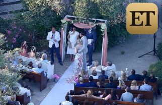 Exclusive... 51796751 Actress Jennie Garth looks stunning as she weds David Abrams in a beautiful and intimate ceremony at her ranch in Santa Ynez, California on July 11, 2015. Though this is Garth's second marriage, she looked every bit the first time bride in a beautiful wedding dress with roses embroidered on it. With her adorable daughters serving as bridesmaids, she gazed lovingly at Abrams. Though her old '90210' castmates were notably absent, longtime friend Tori Spelling brought friends Miguel Pinzon and Erik Rudy along for the ceremony. Garth was in tears as her fiancé read his vows and seems genuinely blissed out throughout. They gave big hugs to the daughters after the ceremony and posed for pictures with the extended family.  FameFlynet, Inc - Beverly Hills, CA, USA - +1 (818) 307-4813